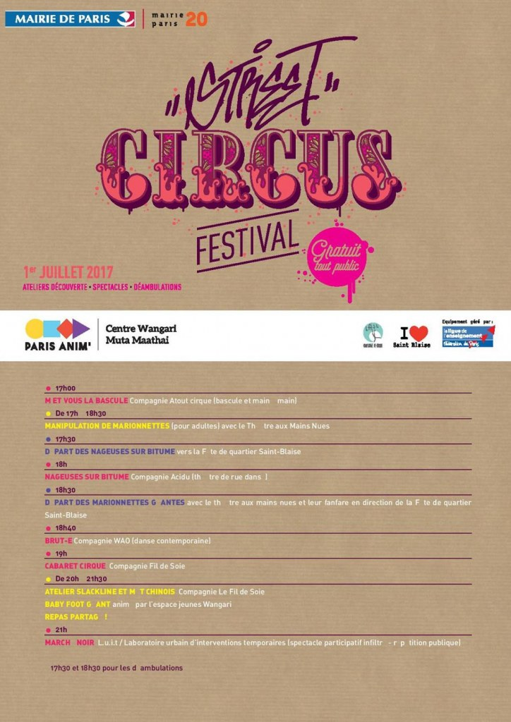 Affiche Street Circus Festival
